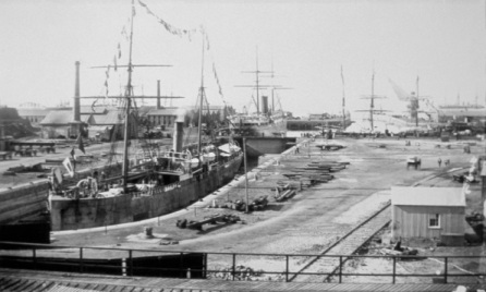 Robinson Dry Dock in 1882